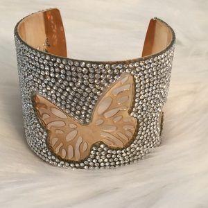 Butterfly Crystal Cuff Bracelet